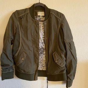 Green bomber jacket!